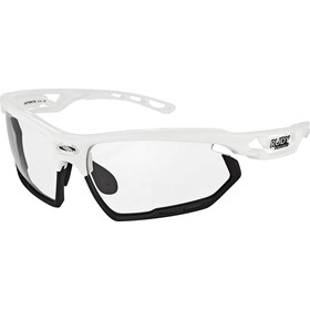 Rudy Project Fotonyk Cykelbriller, white gloss - impactx photochromic 2 black